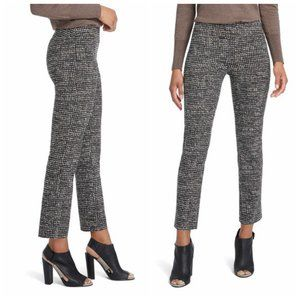 NIC+ZOE Silver Animal Print Slim Trousers